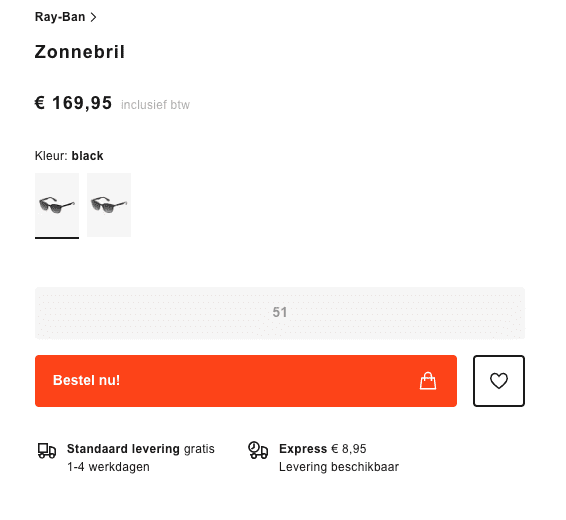 Call To Action Zalando Oranje