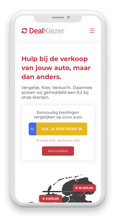 Telefoon website DealKiezer